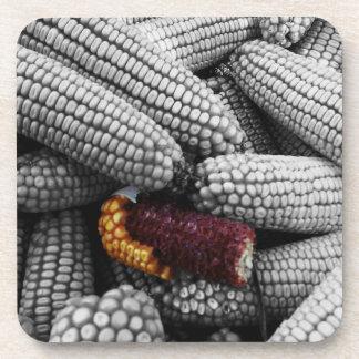 Corn On The Cob Color Splash Beverage Coaster