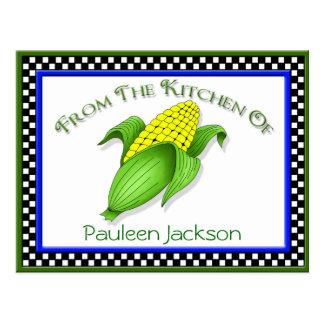 Corn On The Cob Recipe Cards Postcard
