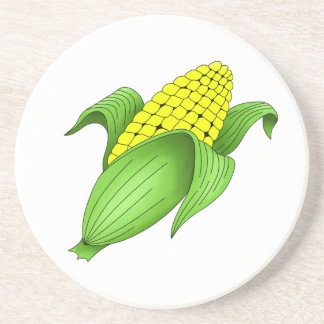 Corn On The Cob Sandstone Coaster