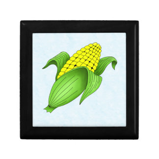 Corn On The Cob with Blue Bkgd Gift Box