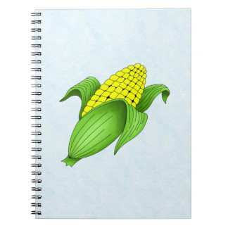 Corn On The Cob with Blue Bkgd Notebook