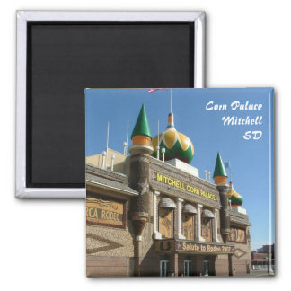 Corn Palace 2 Inch Square Magnet