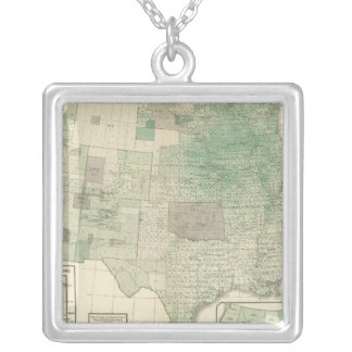 Corn per acre planted silver plated necklace