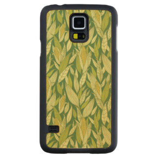 Corn plants pattern background carved maple galaxy s5 slim case