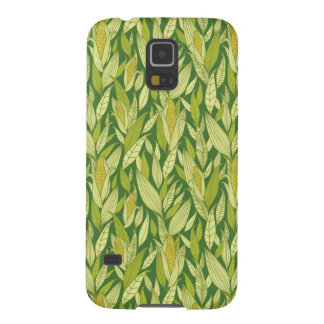 Corn plants pattern background case for galaxy s5