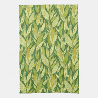 Corn plants pattern background hand towels