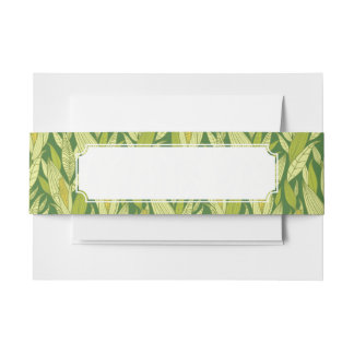 Corn plants pattern background invitation belly band