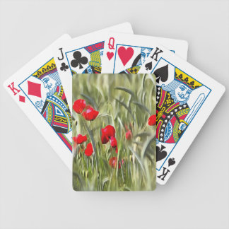 Corn Poppies Bicycle Playing Cards