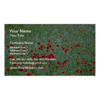 Corn poppies (Papaver Rhoeas)  flowers Business Card Template