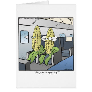 Corn Popping Greeting Card