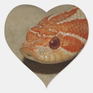 Corn snake heart sticker