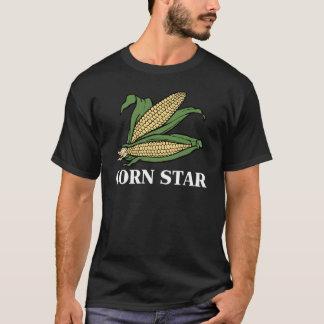 Corn Star Funny Vegetable Pun BBQ Humor T-Shirt