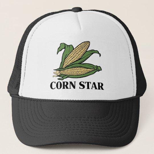 742dd8e1550 Corn Star Funny Vegetable Pun BBQ Humor Trucker Hat