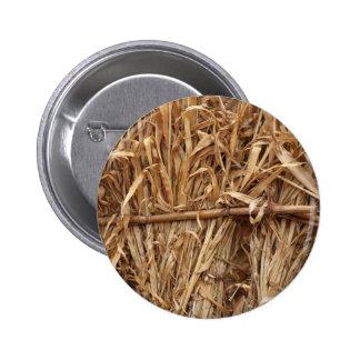 Corn Straw Pinback Button
