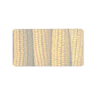 Corn texture personalized address label