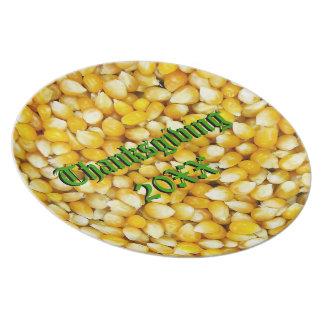 Corn Thanksgiving Plate Template