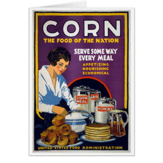 Corn The Food of the Nation, 1918 Card