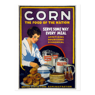 Corn The Food of the Nation, 1918 Postcard