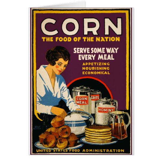 Corn The Food of the Nation Card