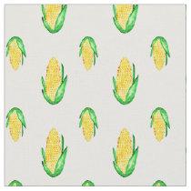 Corn watercolor seamless pattern fabric