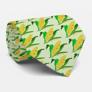 corn with green leaves. Farm Neck Tie