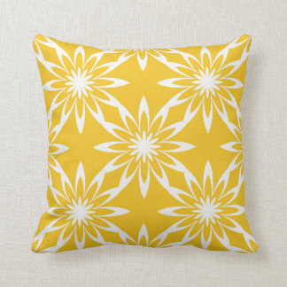Corn Yellow Throw Pillow - Floral Design