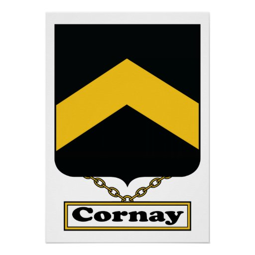 Cornay Family Crest Poster