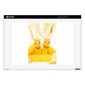 "Corncobs with eyes and mouth.jpg 15"" laptop skins"