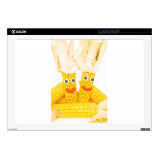 Corncobs with eyes and mouth.jpg decal for laptop