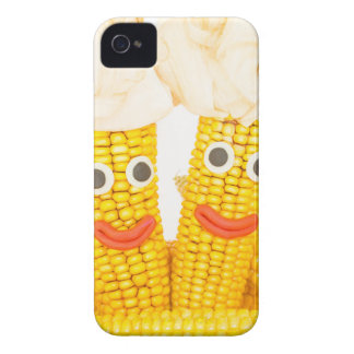Corncobs with eyes and mouth.jpg iPhone 4 Case-Mate case