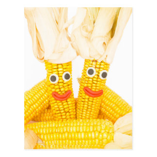 Corncobs with eyes and mouth.jpg postcard