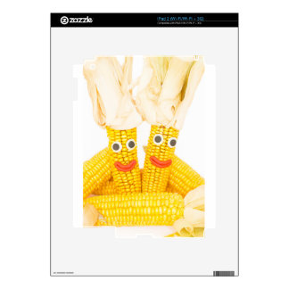 Corncobs with eyes and mouth.jpg skins for iPad 2