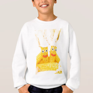 Corncobs with eyes and mouth.jpg sweatshirt