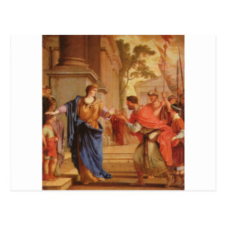 Cornelia Has the Crown of Ptolemaic dynasty Back Postcard
