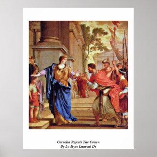 Cornelia rechaza la corona por el La Hyre Laurent  Póster