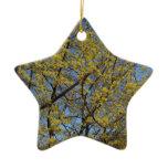 Cornelian Cherry Dogwood and Blue Sky Ceramic Ornament