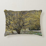 Cornelian Cherry Dogwood and Glory of the Snow Accent Pillow
