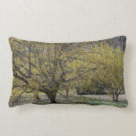 Cornelian Cherry Dogwood and Glory of the Snow Lumbar Pillow