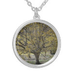 Cornelian Cherry Dogwood and Glory of the Snow Silver Plated Necklace