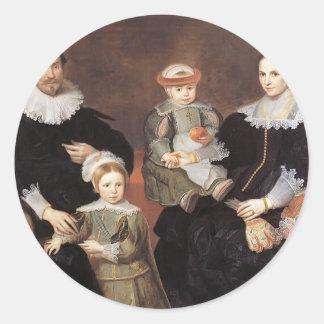 Cornelis de Vos- The Family of the Artist Round Stickers