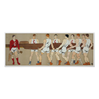 Cornell Crew Team, circa 1907  12H x 32W Poster