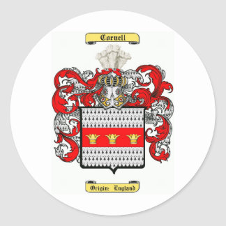 Cornell Pegatina Redonda