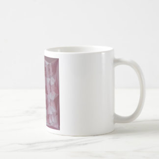 Cornell Red Abstract Low Polygon Background Coffee Mug