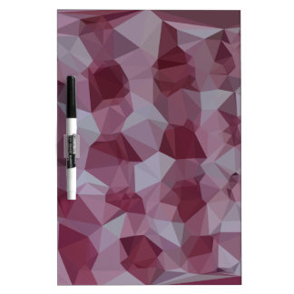 Cornell Red Abstract Low Polygon Background Dry-Erase Board