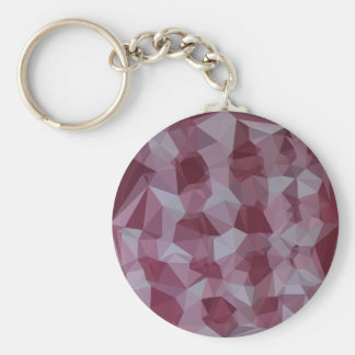 Cornell Red Abstract Low Polygon Background Keychain