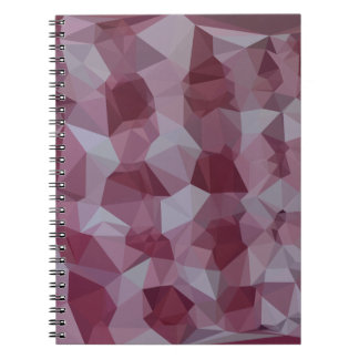 Cornell Red Abstract Low Polygon Background Notebook