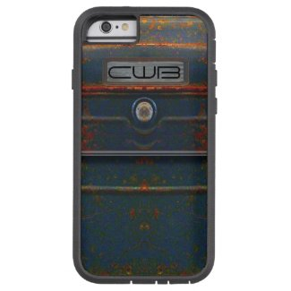 Cornell Rugged Rust Monogram Tough Xtreme iPhone 6 Case