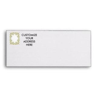Corner arrow design of scanned green stems envelope