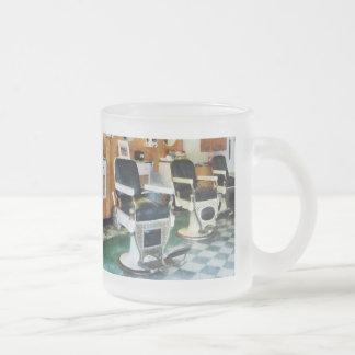 Corner Barber Shop 10 Oz Frosted Glass Coffee Mug