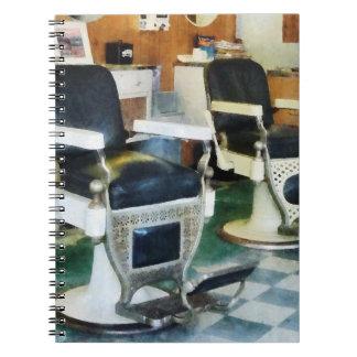 Corner Barber Shop Spiral Notebooks
